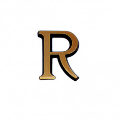 Litere Bronz Roman R 5 cm
