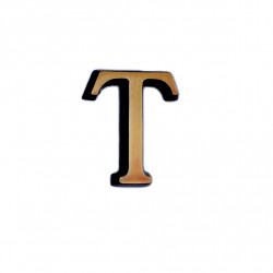 Litere Bronz Roman T 6 cm