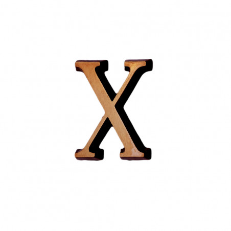 Litere Bronz Roman X 6 cm