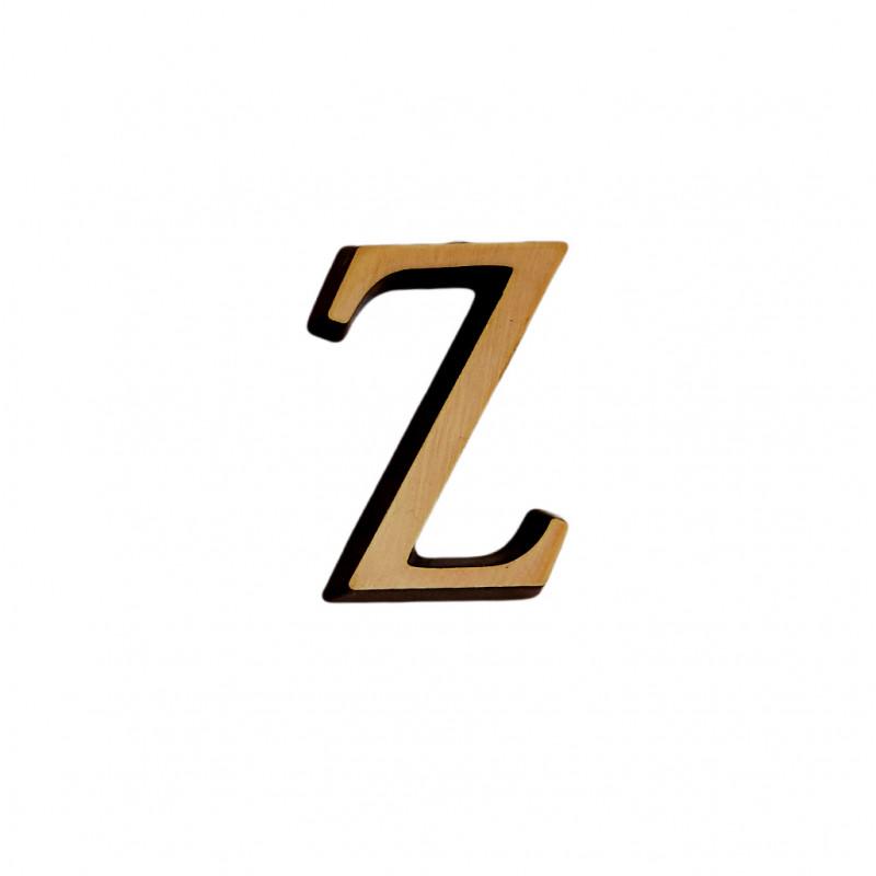 Litere Bronz Roman Z 6 cm