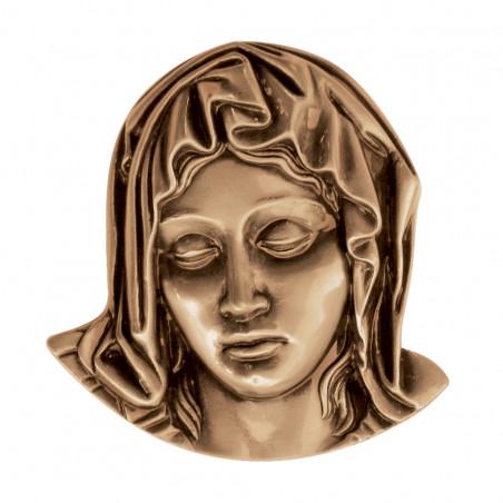 Figura Fecioara Maria Bronz  11.5 x 10.5 cm