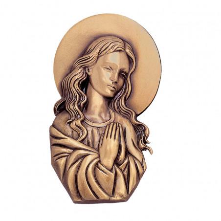 Figura Fecioara Maria Bronz  12 x 7 cm