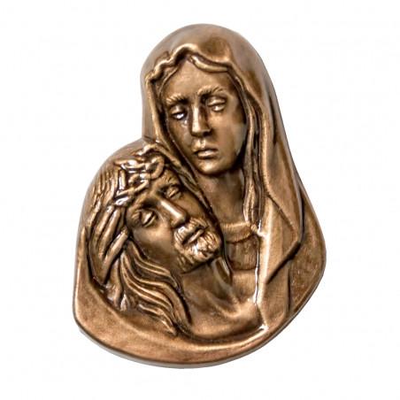Figura Fecioara Maria si Isus Bronz H 10 cm