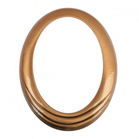 Bronz Ovalis Keret Felkor diszitessel az also reszen 9x12 cm