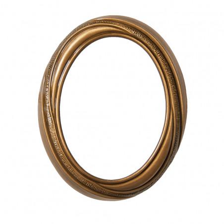 Bronz Ovalis Keret diszitessel 9x12 cm