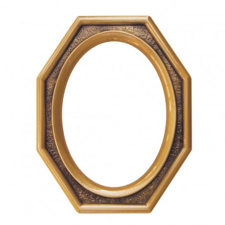 Bronz Ovalis Keret Szoglesitett 8 oldallal 8x12 cm