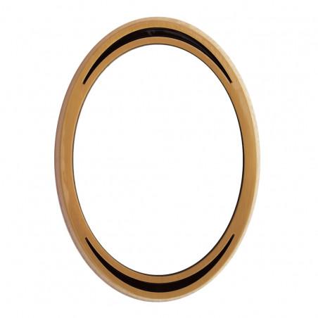 Bronz Ovalis Keret Felkor diszites also es felso reszen 9x12 cm