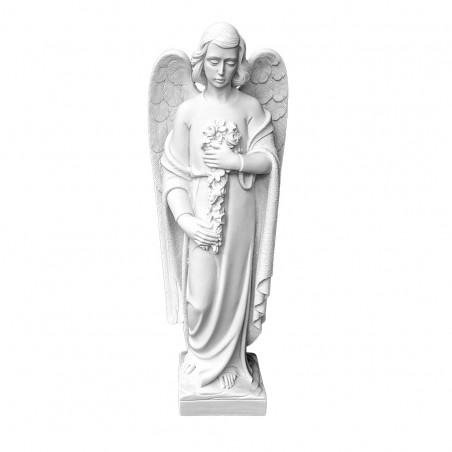 Marvany porbol angyal szobor 64x21x20 cm