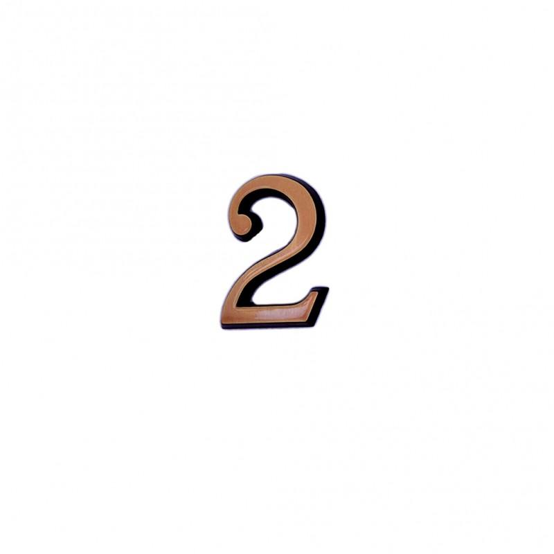 Cifra Bronz 2 Roman 3 cm