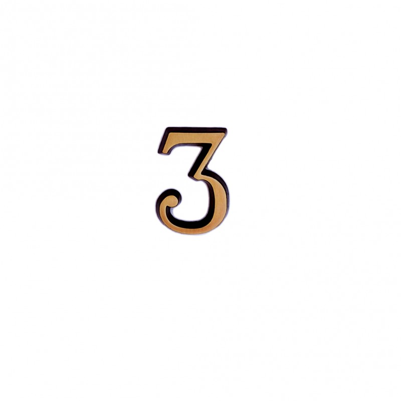 Cifra Bronz 3 Roman 3 cm