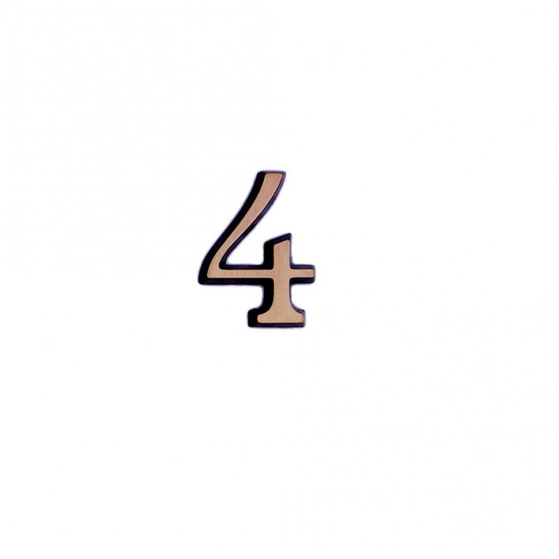 Cifra Bronz 4 Roman 4 cm