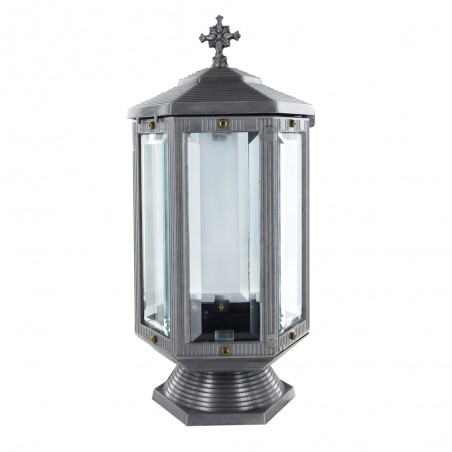 Otvozet mecses Ezust szinu Aluminium mecsesm 31 cm sz 14.5 cm Melyseg 14.5 cm
