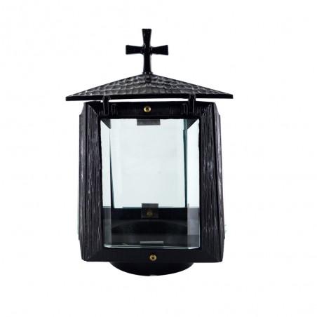 Bronzlmecses Feketere festett bronzlampas m 18 cm sz 12.5 cm