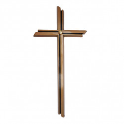 Cruce Bronz cu Aplicatie Aurita Inaltime 40 cm x Latime 15 cm