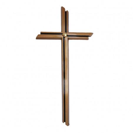 Bronzkereszt arany aplikacioval m 40 cm sz 15 cm