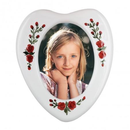 Inima cu flori 13x15 cm