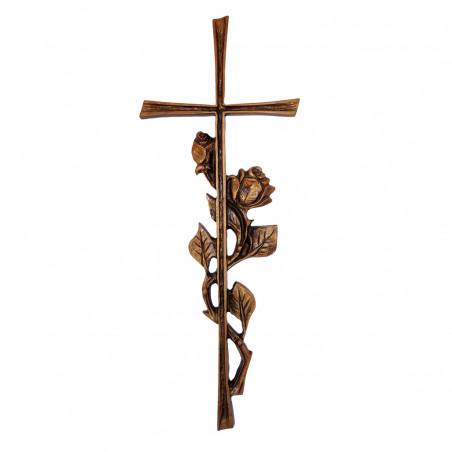 Felfoghato bronzotvozet kereszt Vragdisszelm 36.5 cm sz 14.5 cm